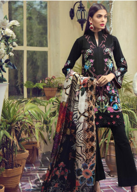 RajBari Embroidered Jacquard Unstitched 3 Piece Suit RB19F 4A - Festive Collection