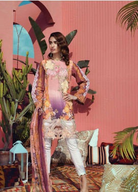 RajBari Embroidered Cotton Unstitched 3 Piece Suit RB19L 10B - Spring / Summer Collection