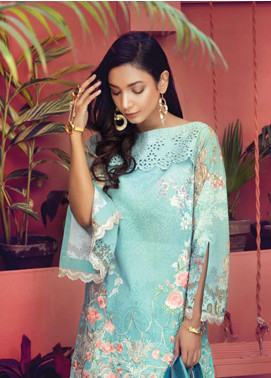RajBari Embroidered Lawn Unstitched 3 Piece Suit RB19L 7A - Spring / Summer Collection