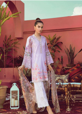 RajBari Embroidered Lawn Unstitched 3 Piece Suit RB19L 7B - Spring / Summer Collection