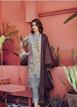 RajBari Embroidered Silk Net Unstitched 3 Piece Suit RB19L 8A - Spring / Summer Collection