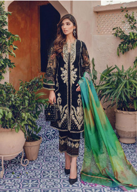 RajBari Embroidered Lawn Unstitched 3 Piece Suit RB20L 4-A - Luxury Collection