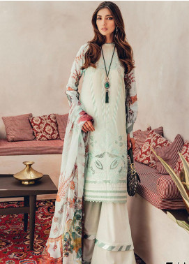 RajBari Embroidered Lawn Unstitched 3 Piece Suit RB20L 7-A - Luxury Collection
