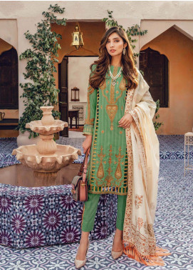 RajBari Embroidered Lawn Unstitched 3 Piece Suit RB20L 9-B - Luxury Collection