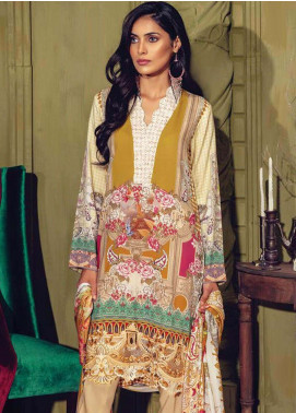 RajBari Embroidered Linen Unstitched 3 Piece Suit RB18W 9B - Fall Winter Collection