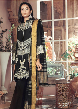 RajBari Embroidered Jacquard Unstitched 3 Piece Suit RB19WF 10B - Winter Collection