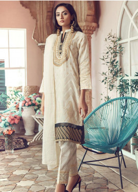 RajBari Embroidered Jacquard Unstitched 3 Piece Suit RB19WF 11A - Winter Collection