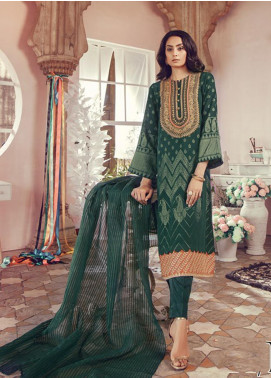 RajBari Embroidered Jacquard Unstitched 3 Piece Suit RB19WF 11B - Winter Collection