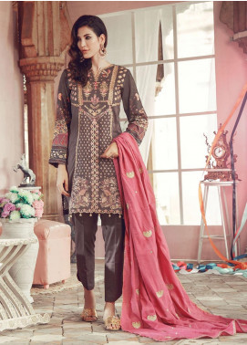 RajBari Embroidered Jacquard Unstitched 3 Piece Suit RB19WF 1B - Winter Collection