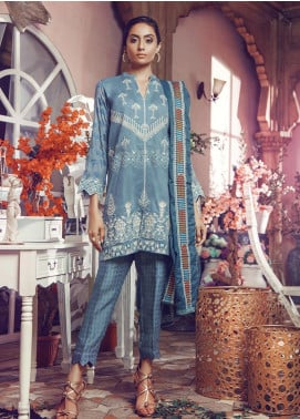RajBari Embroidered Jacquard Unstitched 3 Piece Suit RB19WF 2A - Winter Collection