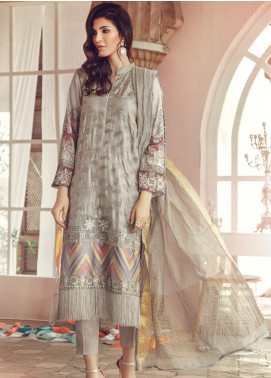 RajBari Embroidered Jacquard Unstitched 3 Piece Suit RB19WF 3A - Winter Collection