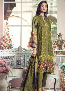 RajBari Embroidered Jacquard Unstitched 3 Piece Suit RB19WF 3B - Winter Collection