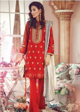 RajBari Embroidered Jacquard Unstitched 3 Piece Suit RB19WF 4A - Winter Collection