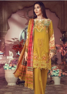 RajBari Embroidered Jacquard Unstitched 3 Piece Suit RB19WF 5A - Winter Collection