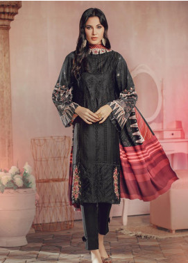 RajBari Embroidered Jacquard Unstitched 3 Piece Suit RB19WF 7A - Winter Collection