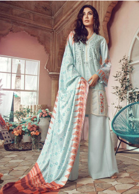 RajBari Embroidered Jacquard Unstitched 3 Piece Suit RB19WF 7B - Winter Collection