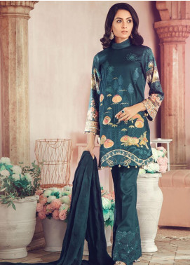 RajBari Embroidered Jacquard Unstitched 3 Piece Suit RB19WF 8A - Winter Collection