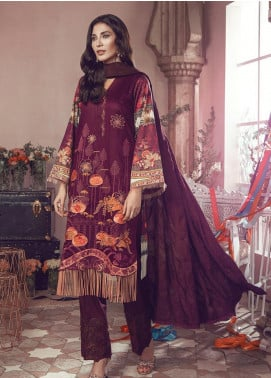 RajBari Embroidered Jacquard Unstitched 3 Piece Suit RB19WF 8B - Winter Collection