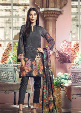RajBari Embroidered Jacquard Unstitched 3 Piece Suit RB19WF 9A - Winter Collection