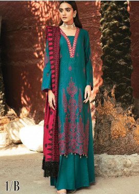 RajBari Embroidered Khaddar Unstitched 3 Piece Suit RB20PW D-01-B - Winter Collection