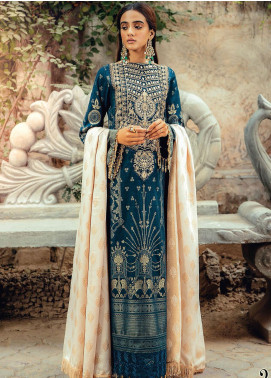 RajBari Embroidered Jacquard Unstitched 3 Piece Suit RB20PW D-02-A - Winter Collection