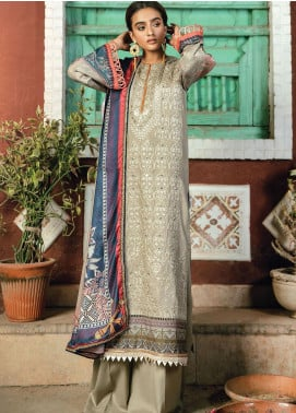 RajBari Embroidered Karandi Unstitched 3 Piece Suit RB20PW D-03-B - Winter Collection