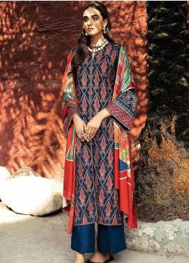 RajBari Embroidered Khaddar Unstitched 3 Piece Suit RB20PW D-04-A - Winter Collection