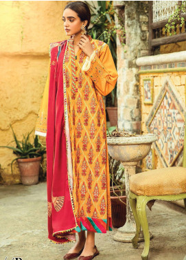RajBari Embroidered Khaddar Unstitched 3 Piece Suit RB20PW D-04-B - Winter Collection