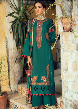 RajBari Embroidered Khaddar Unstitched 3 Piece Suit RB20PW D-05-B - Winter Collection
