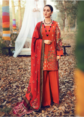 RajBari Embroidered Khaddar Unstitched 3 Piece Suit RB19-W2 10B - Winter Collection