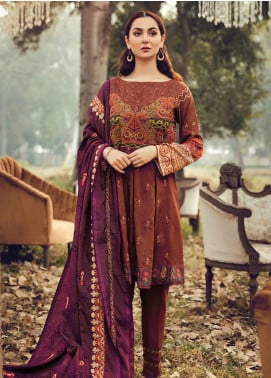 RajBari Embroidered Karandi Winter Collection Design # 2a 2019