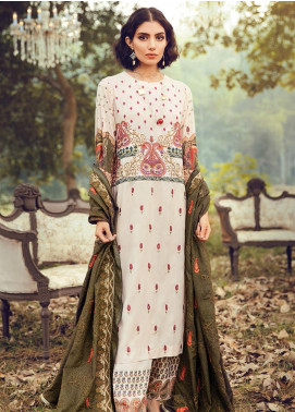 RajBari Embroidered Karandi Unstitched 3 Piece Suit RB19-W2 2B - Winter Collection