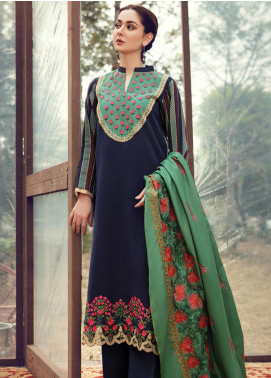 RajBari Embroidered Khaddar Winter Collection Design # 3a 2019