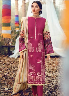 RajBari Embroidered Khaddar Unstitched 3 Piece Suit RB19-W2 7B - Winter Collection