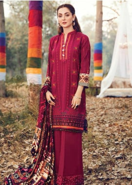 RajBari Embroidered Khaddar Winter Collection Design # 8a 2019