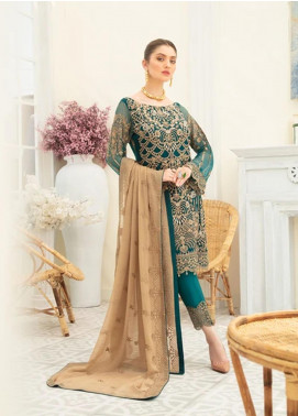 Ramsha Embroidered Chiffon Unstitched 3 Piece Suit RSH20C 1903 - Luxury Collection