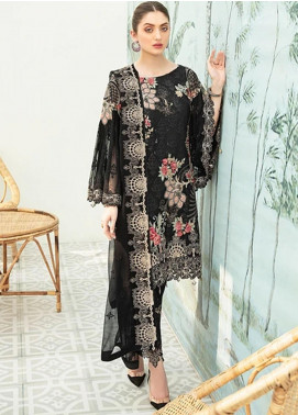 Ramsha Embroidered Chiffon Unstitched 3 Piece Suit RSH20C 1907 - Luxury Collection