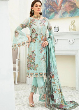Ramsha Embroidered Chiffon Unstitched 3 Piece Suit RSH20C 1908 - Luxury Collection
