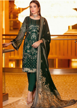 Ramsha Embroidered Chiffon Unstitched 3 Piece Suit RSH21V 302 - Luxury Collection