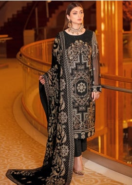 Ramsha Embroidered Chiffon Unstitched 3 Piece Suit RSH21V 303 - Luxury Collection