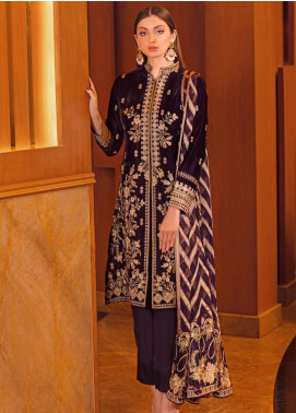 Ramsha Embroidered Velvet Unstitched 3 Piece Suit RSH21V 305 - Luxury Collection