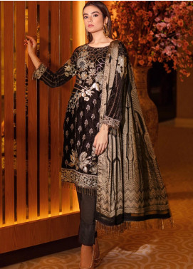 Ramsha Embroidered Velvet Unstitched 3 Piece Suit RSH21V 307 - Luxury Collection