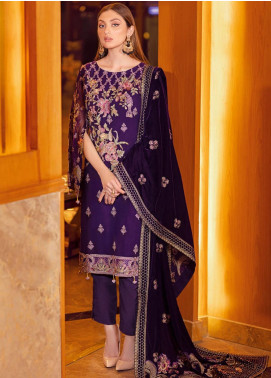 Ramsha Embroidered Chiffon Unstitched 3 Piece Suit RSH21V 308 - Luxury Collection