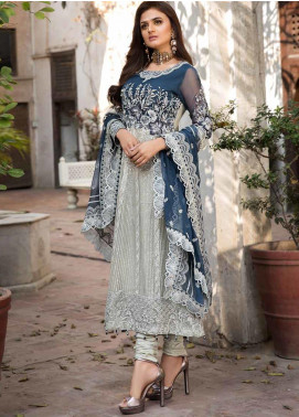 Rang e Bahar by Motifz Embroidered Chiffon Unstitched 3 Piece Suit RB20MT 02353 - Luxury Collection