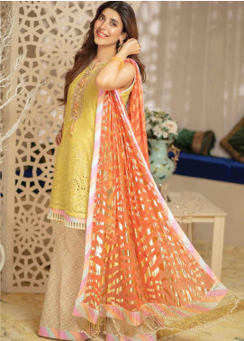Rang Rasiya Embroidered Schiffli  Unstitched 3 Piece Suit RRC19E 803 - Festive Collection