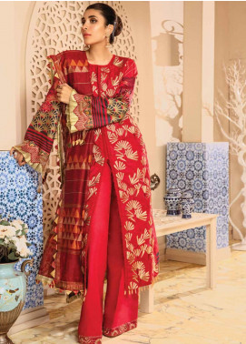 Rang Rasiya Embroidered Schiffli Unstitched 3 Piece Suit RRC19E 805 - Festive Collection