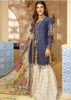 Rang Rasiya Embroidered Schiffli Unstitched 3 Piece Suit RRC19E 810 - Festive Collection