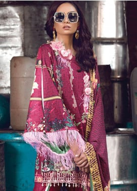 Rang Rasiya Embroidered Viscose Unstitched 3 Piece Suit RR18W 3003B - Winter Collection