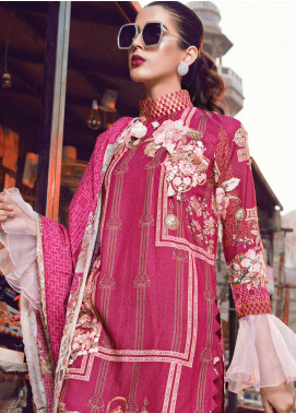 Rang Rasiya Embroidered Viscose Unstitched 3 Piece Suit RR18W 3004B - Winter Collection
