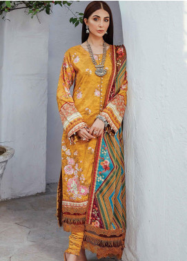 Florence by Rang Rasiya Embroidered Cottel Linen Unstitched 3 Piece Suit RR20LF 625 Saunder - Festive Collection